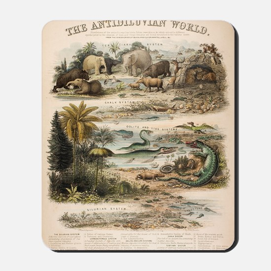 1849 The antidiluvian world by reynolds Mousepad