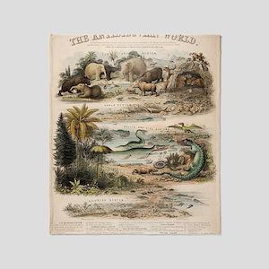 1849 The antidiluvian world by reyno Throw Blanket