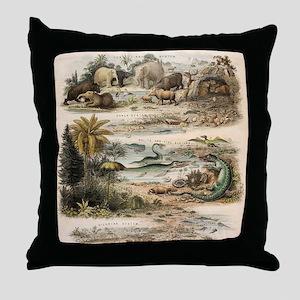 1849 The antidiluvian world by reynol Throw Pillow