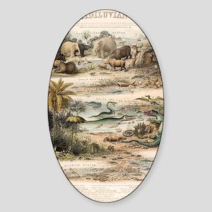 1849 The antidiluvian world by reyn Sticker (Oval)