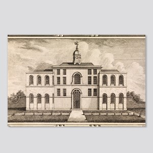 18th C engraving of small Postcards (Package of 8)