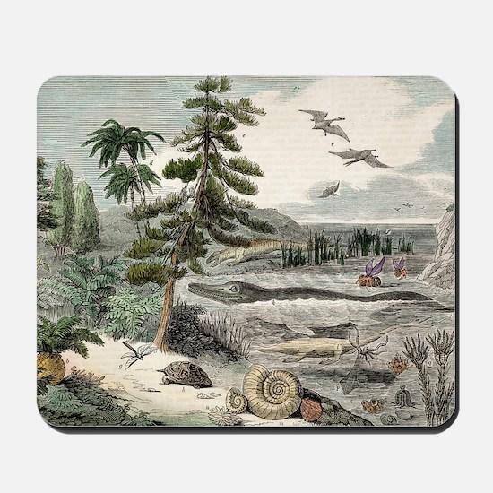 1833 Penny Magazine extinct animals crop Mousepad