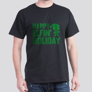 Happy Elfin' Holiday Dark T-Shirt