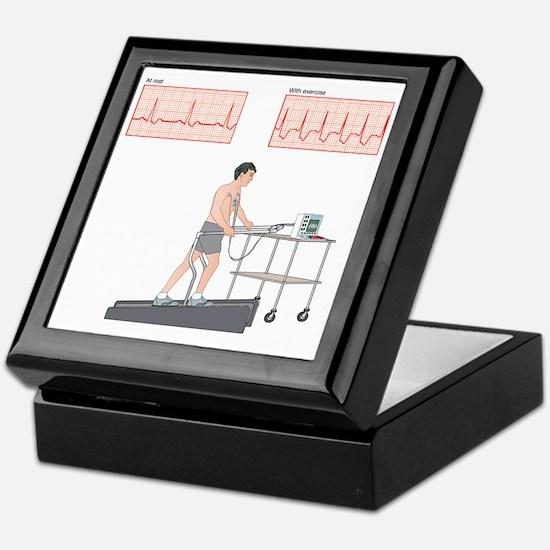 Cardiac stress test, artwork Keepsake Box