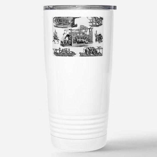 19th Century Printing M Stainless Steel Travel Mug