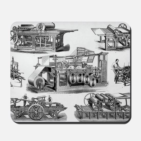 19th Century Printing Machines Mousepad