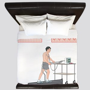 Cardiac stress test, artwork King Duvet