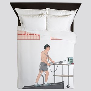 Cardiac stress test, artwork Queen Duvet