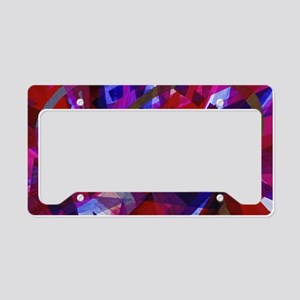 Abstract Dance of Life License Plate Holder