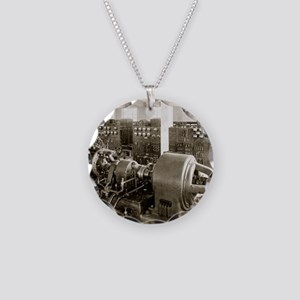 Alexanderson alternator Necklace Circle Charm