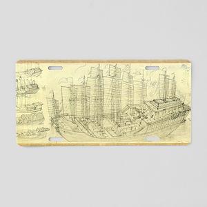 Chinese armada, artwork Aluminum License Plate
