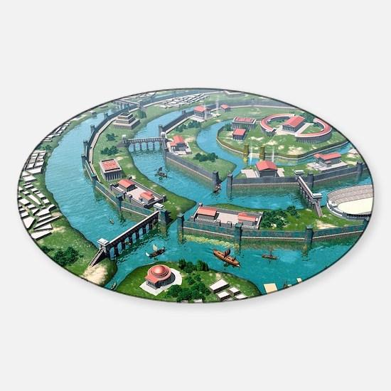 Atlantis, artwork Sticker (Oval)