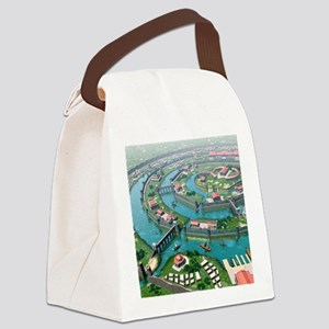 Atlantis, artwork Canvas Lunch Bag
