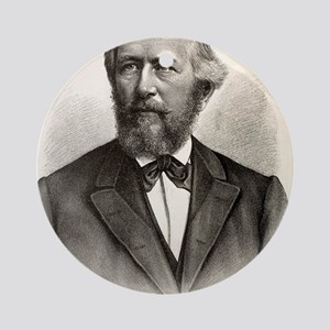 1880's Ernst Haeckel German engravi Round Ornament