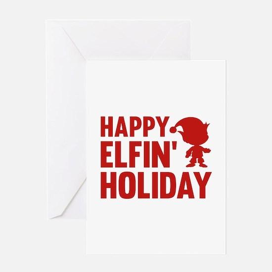 Happy Elfin' Holiday Greeting Card