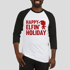 Happy Elfin' Holiday Baseball Jersey