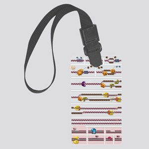 DNA replication process, diagram Large Luggage Tag