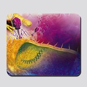 Bacteriophages attacking bacteria Mousepad