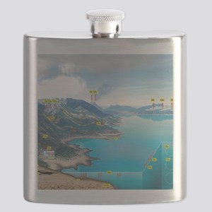Carbon cycle, artwork Flask