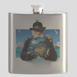 Charles Darwin, British naturalist Flask