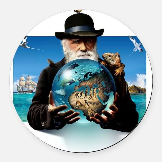 Charles Darwin, British naturalis Round Car Magnet