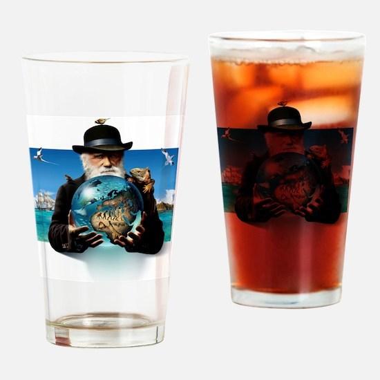 Charles Darwin, British naturalist Drinking Glass