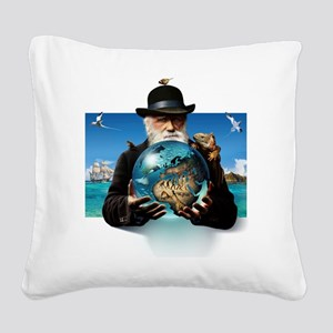 Charles Darwin, British natur Square Canvas Pillow