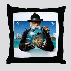 Charles Darwin, British naturalist Throw Pillow
