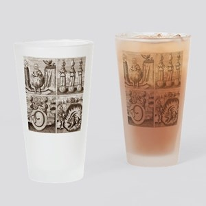 Emblems from Mylius' Philosophia re Drinking Glass