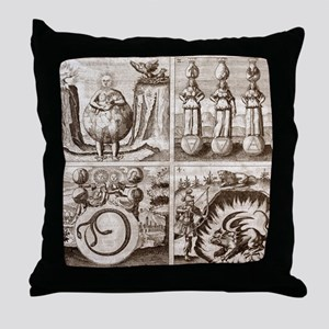 Emblems from Mylius' Philosophia refo Throw Pillow