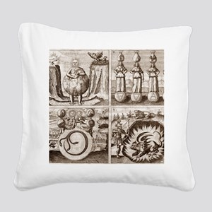 Emblems from Mylius' Philosop Square Canvas Pillow