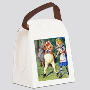 Alice  TWEEDLE DUM_SQ Canvas Lunch Bag
