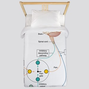 Gate control theory of pain, artwork Twin Duvet
