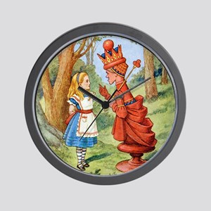 Alice The Red Queen_SQ Wall Clock