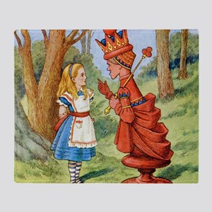 Alice The Red Queen_SQ Throw Blanket