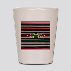 Vintage Black Mexican Serape Shot Glass