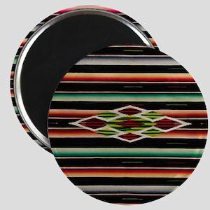 Vintage Black Mexican Serape Magnet