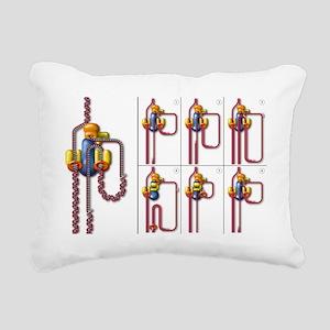 DNA replication fork, ar Rectangular Canvas Pillow