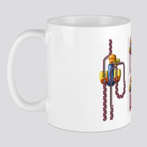 DNA replication fork, artwork Mug