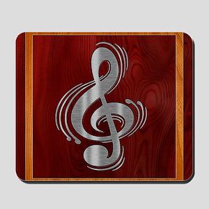 clef-woodsteel-PLLO Mousepad