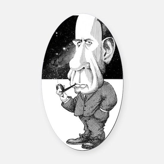 Edwin Hubble, US astronomer Oval Car Magnet