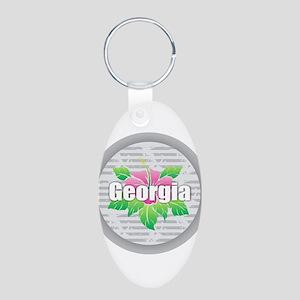 Georgia Hibiscus Keychains
