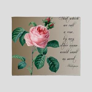Rose Shakespeare Throw Blanket