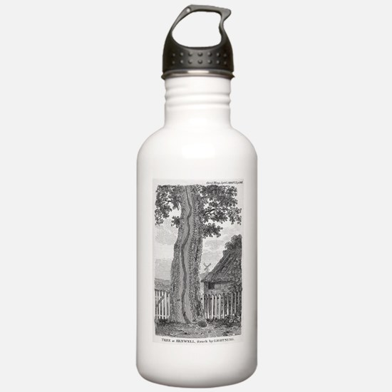 Engraving of a tree sp Water Bottle