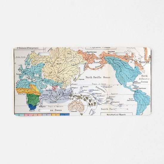 Ernst Haeckel Map Lemuria H Aluminum License Plate