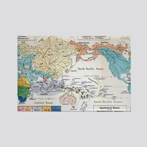 Ernst Haeckel Map Lemuria Human O Rectangle Magnet
