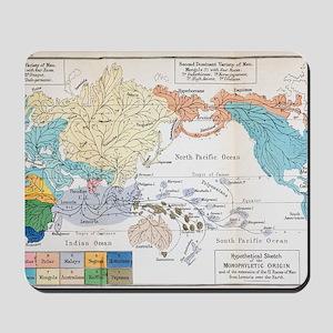Ernst Haeckel Map Lemuria Human Origins Mousepad