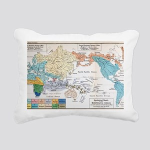 Ernst Haeckel Map Lemuri Rectangular Canvas Pillow