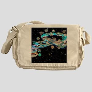 Evolution of life, artwork Messenger Bag