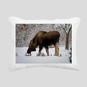 Hungry Moose Rectangular Canvas Pillow